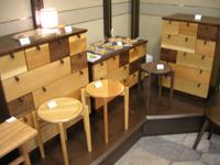 松永家具塗装 展示の様子