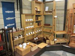 市川木工 展示の様子