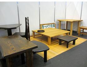 勝見木工 展示の様子